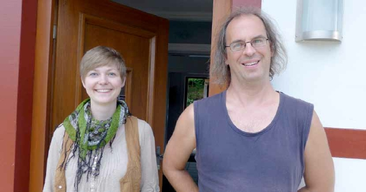 Die ersten WaldeckKunstStipendiaten: Mascha Potempa und Holger Saarmann Foto: mike